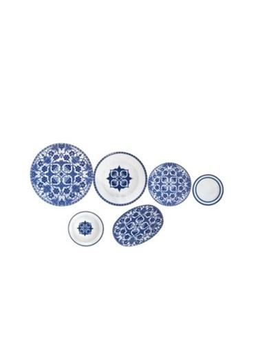 Porland Hüma Mavi Yemek Takımı 32 Parça 04POR032978 Mavi